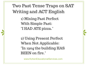 SAT Writing ACT English Two Past Tense Traps